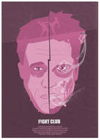 Fight Club Poster Design by Purpldrank