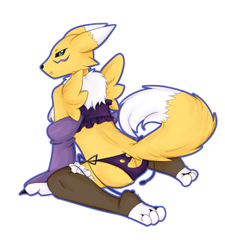 Renamon by TroodontheDestroyer