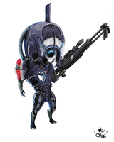Mass Effect Legion Chibi by We-Chibi