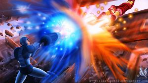 Megaman VS Ironman by Antares69