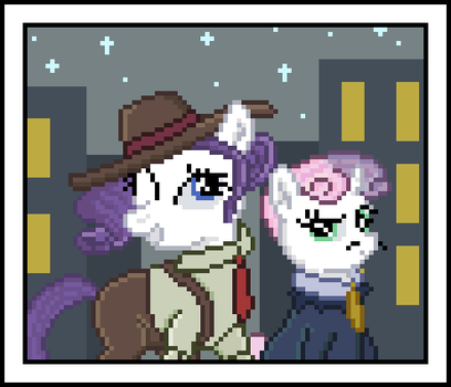 Two Fillies Out To Have Fun by 8-BitBrony