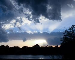 rays over the lake by Lemon405