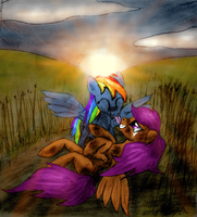 Scootaloo and Rainbow Dash 1 by Ksopies
