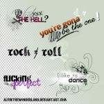 New rock png texts by alyinthewonderland by alyinthewonderland