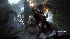 The Witcher 3 Wild Hunt Geralt and Yennefer by Scratcherpen