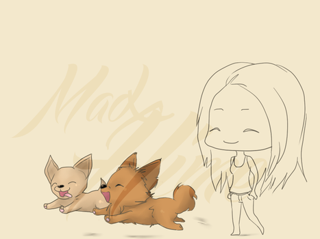 Wip : Walk time for puppies ! by MadxHime