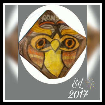 An owl named Ron (my art) by SinfulLusinda