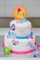 Baby shower cake inspired by room decorations by buttercreamfantasies