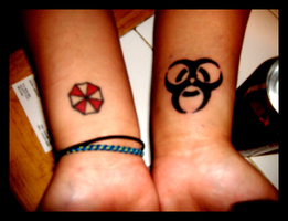 my resident evil tattoos by digitaltvirus