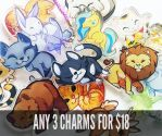 Any 3 charms for $18 on my Etsy! by ShinePawArt