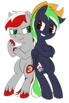 Knight Fire and Moonlite Ace by FireAndRose