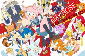 The Appearance of Amy Rose by DeannART