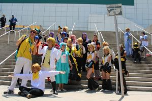 Kida and the Vocaloids - AX 2012 by AtomicBrownie