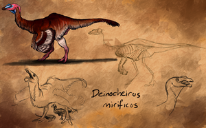Deinocheirus mirificus by Silenced-Dreams