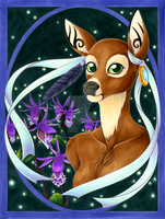 Green Eyed Doe by LorienInksong