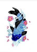 Koi fish by Flxrence