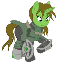 Emerald Flicker Fallout Equestria by RarityKaiba