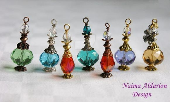 Potion bottles pendants by NaimaAldarion