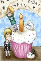 [APH] Birthday present for Aphin123 by EroEmo-chan