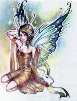 Fairy in a Golden Dress by Amaranth44