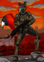 Samuil in the army by kitfox-crimson
