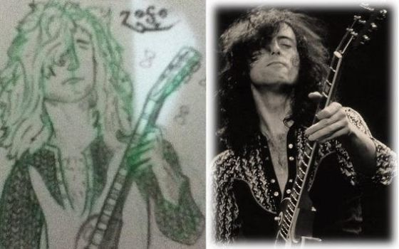 jimmy page sketch by J-B-Quintal