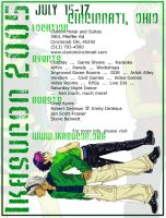 Ikasucon Flyer - green version by taintedsilence