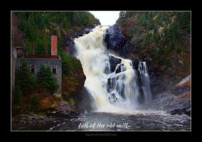 fall of the old mill by Sagittor