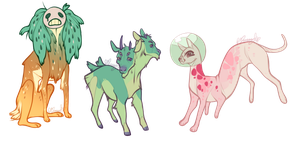 CLOSED More Critters by Moriartea-time