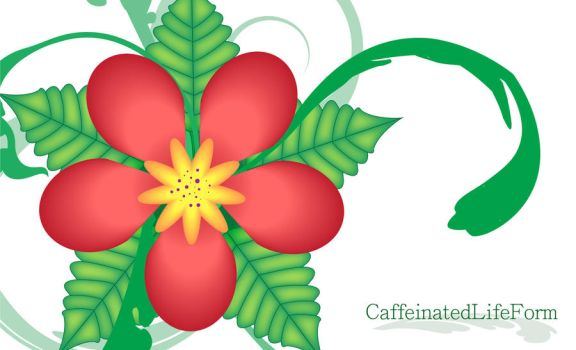 Tropical Flower Wallpaper by CaffeinatedLifeForm