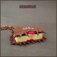 Monster Book of Monster Hogwarts Necklace by buzhandmade