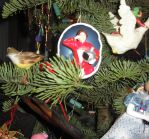 Mork in the Christmas Tree by Lurkerbunny