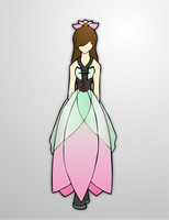Earth theme dress by Prinny-Dood