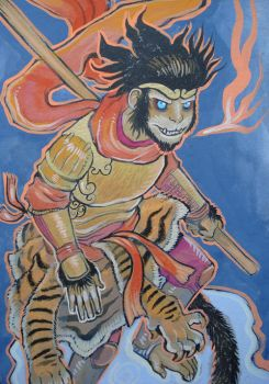 Monkey King close up by missmonster