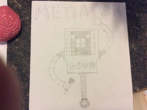 It's Showtime!!! (Mettaton) drawing by Andrew-avyx