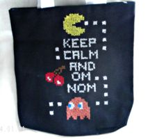 Pac-Man Inspired Tote Bag by agorby00