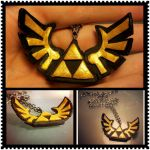 Legend of Zelda Triforce Necklace by Faye-Fox