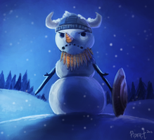 DAY 27. Viking Snowman (30 Minutes) by Cryptid-Creations