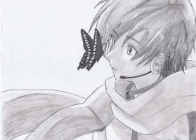 Kaito with a Butterfly by Fullmetal-Outcast