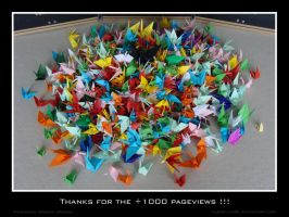 Thousand origami cranes by llewella20