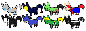 ..::Videogame Puppy Adopts ALL BUT ONE IS OPEN::.. by love-the-adopts