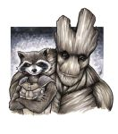 Rocket and Groot by BigChrisGallery
