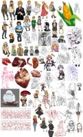February - March 2015 Doodle Dump by ryuuen