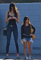 Kendall Jenner and sister by lowerrider