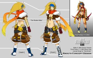 Dead Fantasy III: Rocker Rikku by Sketchfighter316
