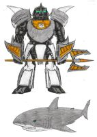 Sharkbot Grimlock by Jochimus