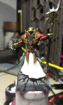 chaos raptor sorcerer lord front by lazzyX