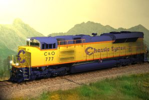 Chessie System 777 SD70ACE by SwiftWindSpirit