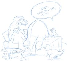Tyrannosaurus Mother's Day by Marvelousboy