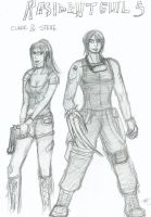 RE5 - Claire and Steve by Sheenah